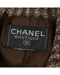 Chanel Vintage Brown Wool Jacket