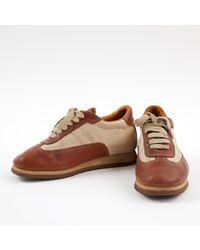 Deportivas de Cuero Hermès de color Brown