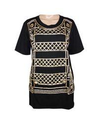 Balmain Black Wolle T-shirt