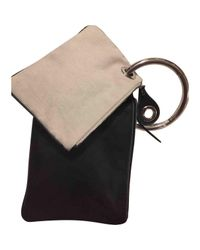 Maison Margiela Pre-owned Black Leather Clutch Bags