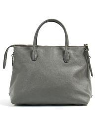 Miu Miu Gray \n Grey Leather Handbag