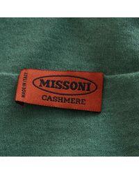 Pull en cachemire Missoni en coloris Green