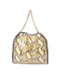 Bolsa de mano en lona amarillo Falabella Stella McCartney de color Multicolor