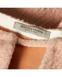 Robe mi-longue en laine Bottega Veneta en coloris Pink
