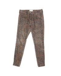 Étoile Isabel Marant Brown Velvet Slim Pants