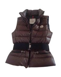 Gilet Moncler en coloris Brown
