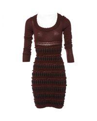 Alaïa Multicolor Wool Mid-length Dress