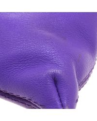 Borsa a mano in pelle viola di Carolina Herrera in Purple