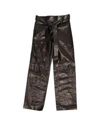 Loewe Black Leather Trousers