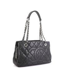 Chanel Black Timeless/classique Leder Shopper