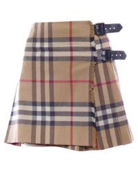 Burberry Natural Wool Mini Skirt