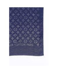 Louis Vuitton Blue Seide Schals