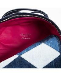Roger Vivier Blue Cloth Backpack