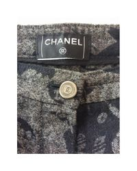 Chanel Gray Shorts Baumwolle Grau