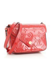 Bolsa de mano en cuero rojo Louis Vuitton de color Red