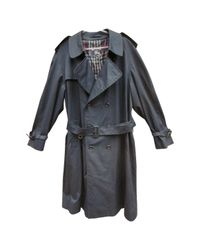 Burberry Blue Pre-owned Navy Cotton Coat for men