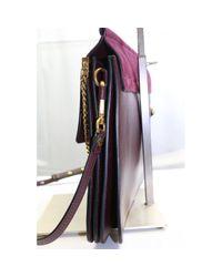 Chloé Purple Faye Leder Cross body tashe