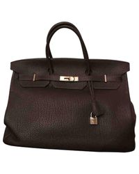 Hermès Pre-owned Birkin 40 Brown Leather Handbags