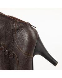 Lanvin Brown Leder Stiefel