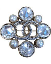 Chanel Blue Cc Broschen