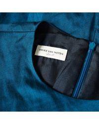 Dries Van Noten Blue Cotton