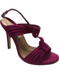 Escarpins Manolo Blahnik en coloris Pink