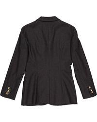 Vest \N en Laine Gris Moschino en coloris Black