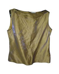 Chanel - Green Pre-owned Silk Blouse - Lyst