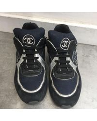 Chanel Multicolor Leinen Sneakers