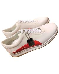 Louis Vuitton Pre-owned Red Leather Trainers for men