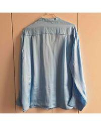 Emilio Pucci \n Blue Silk Top