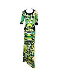 Robe longue en soie Emilio Pucci en coloris Green
