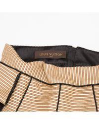 Mini jupe en soie Louis Vuitton en coloris Black
