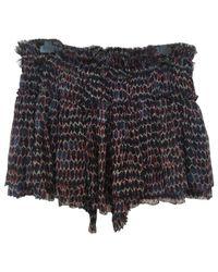Isabel Marant Black Pre-owned Silk Mini Skirt