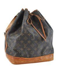 Louis Vuitton Brown Noé Cloth Handbag