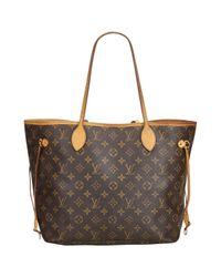 Louis Vuitton Brown Neverfull Shopper