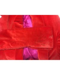 Chaqueta en terciopelo rojo By Malene Birger de color Red