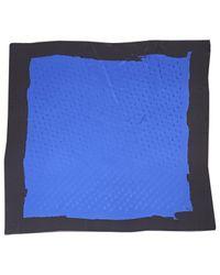 Dior Blue Pre-owned Silk Scarf