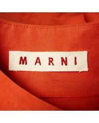 Marni Orange Mäntel