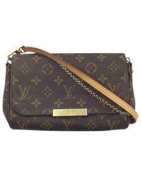 Louis Vuitton Brown Favorite Leinen Cross Body Tashe