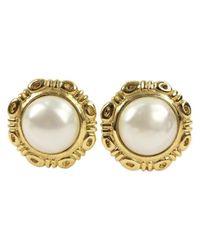 Chanel - Metallic Pre-owned Metal Earrings - Lyst