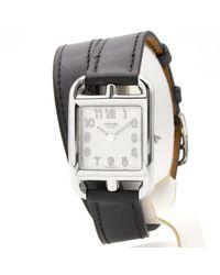 Reloj en acero negro Cape Cod Hermès de color Black