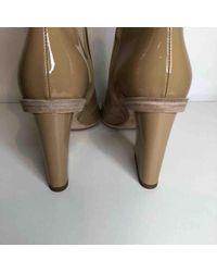 Hermès Natural Lackleder Stiefeletten
