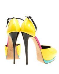 Sandales en Cuir verni Jaune Giuseppe Zanotti en coloris Yellow
