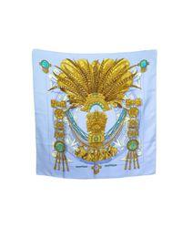 Hermès Blue Silk Handkerchief