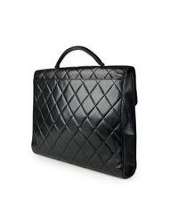 Chanel Black Leder Aktentaschen