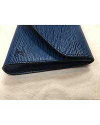 Louis Vuitton Blue Leder Clutches