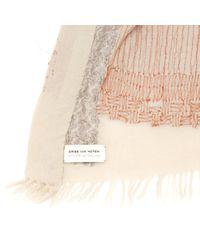 Dries Van Noten Natural Wool Scarf