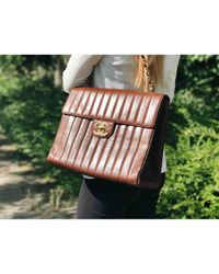 Chanel Brown Timeless/classique Leder Handtaschen