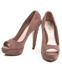 Miu Miu \n Purple Suede High Heel